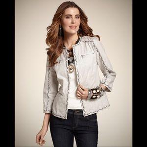 Chico's Linen Blend Jacket Size 2